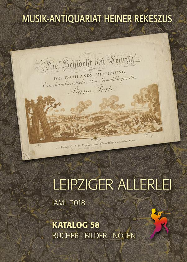 Musikantiquariat Rekeszus Katalog 58 Titelcover
