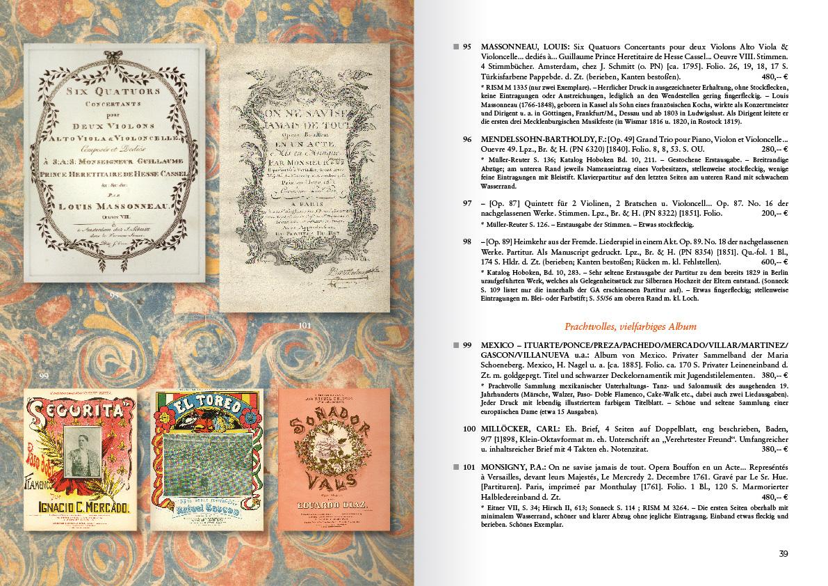 Musikantiquariat Rekeszus Katalog 58 Innenseite