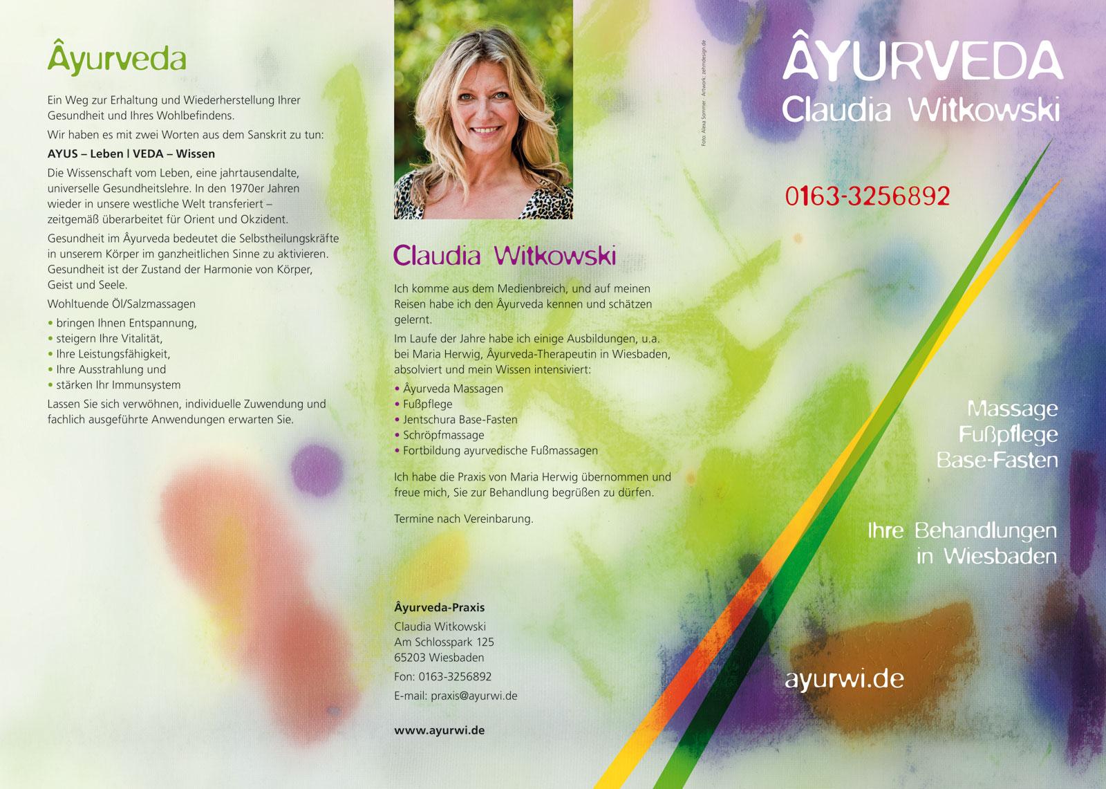 Ayurveda Claudia Witkowski Ayurwi Flyer