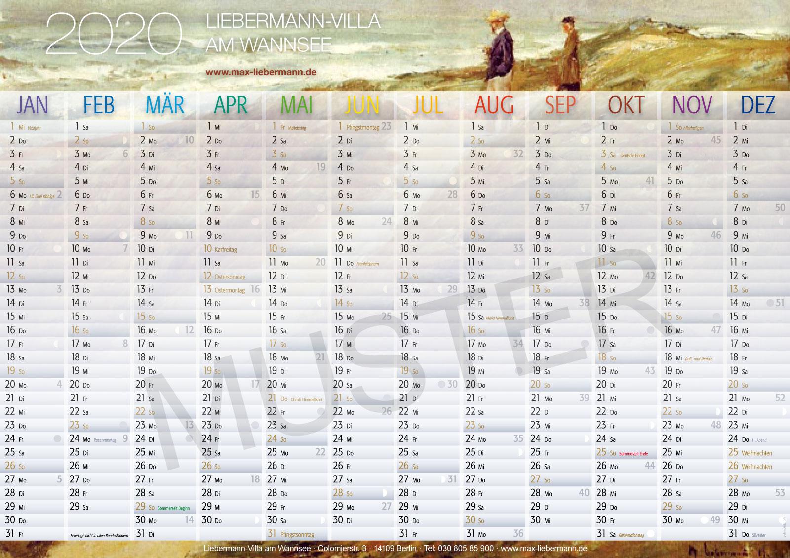 Zehm Design Kalender Strand Muster