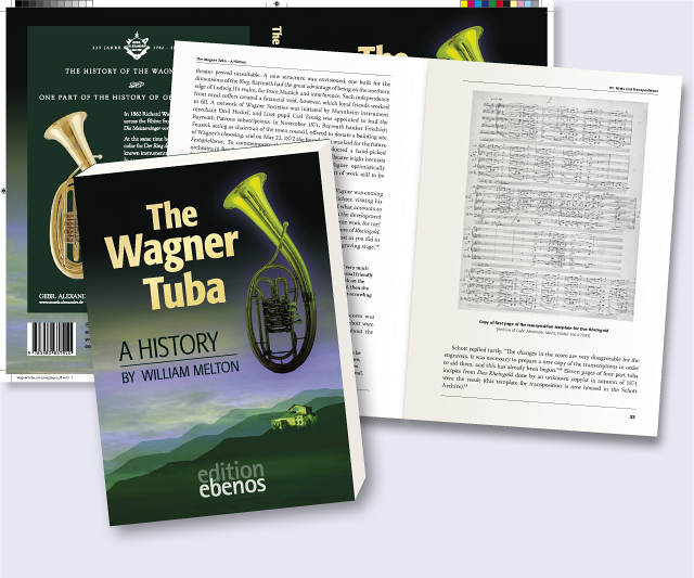 Edition Ebenos, The Wagner Tuba – Buchdesign