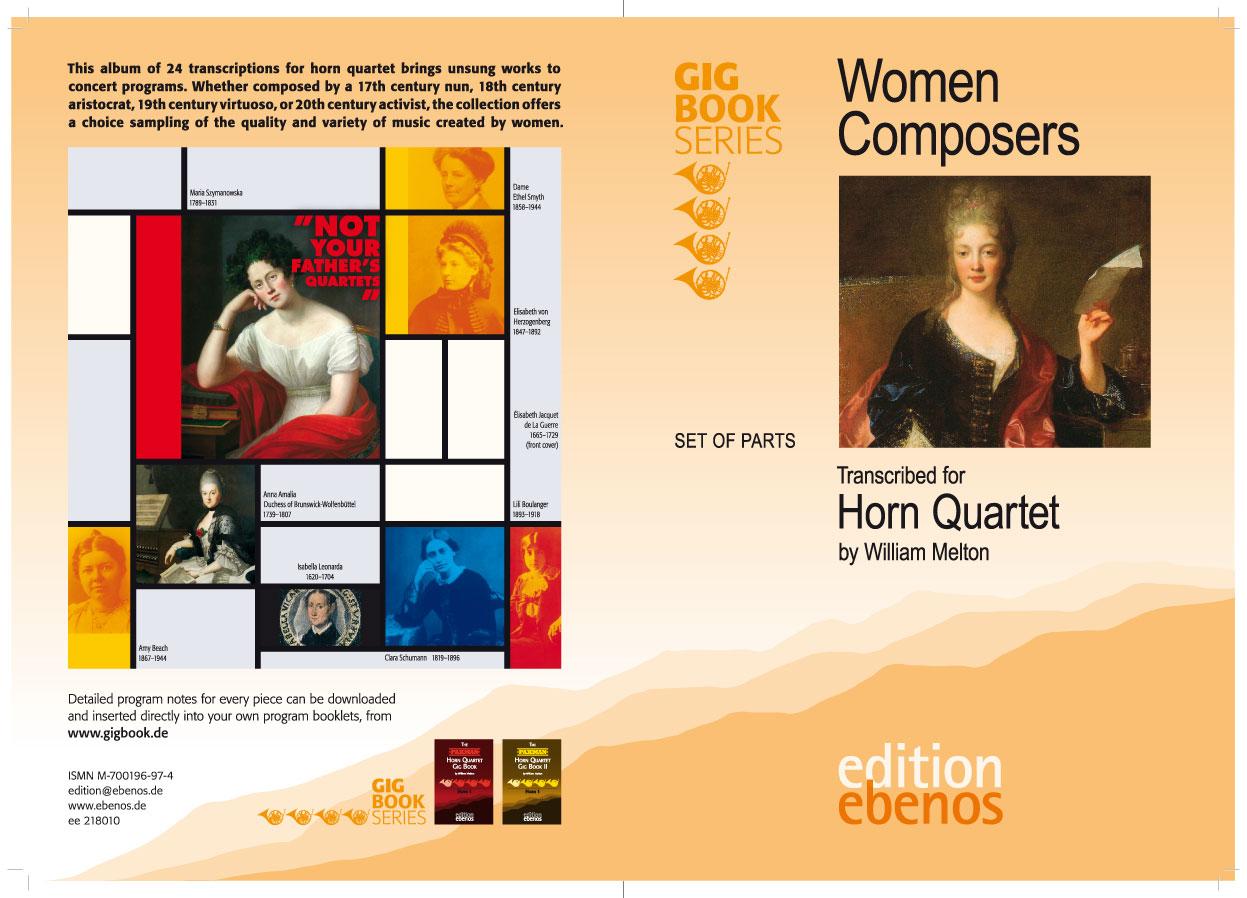 Women Composers Umschlagbogen mit Schneidemarken