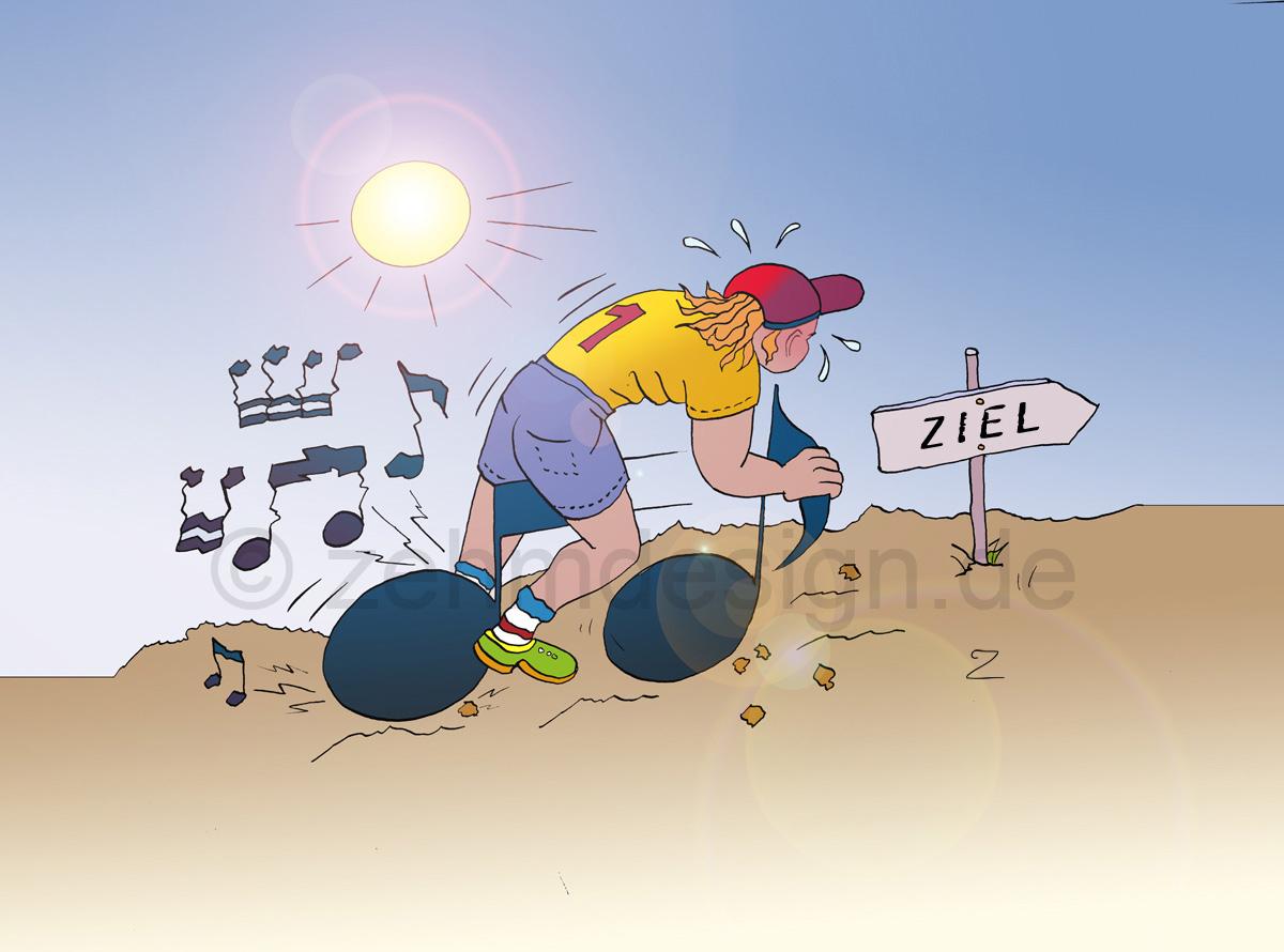 Zehm Design Illustration Notenfahrrad