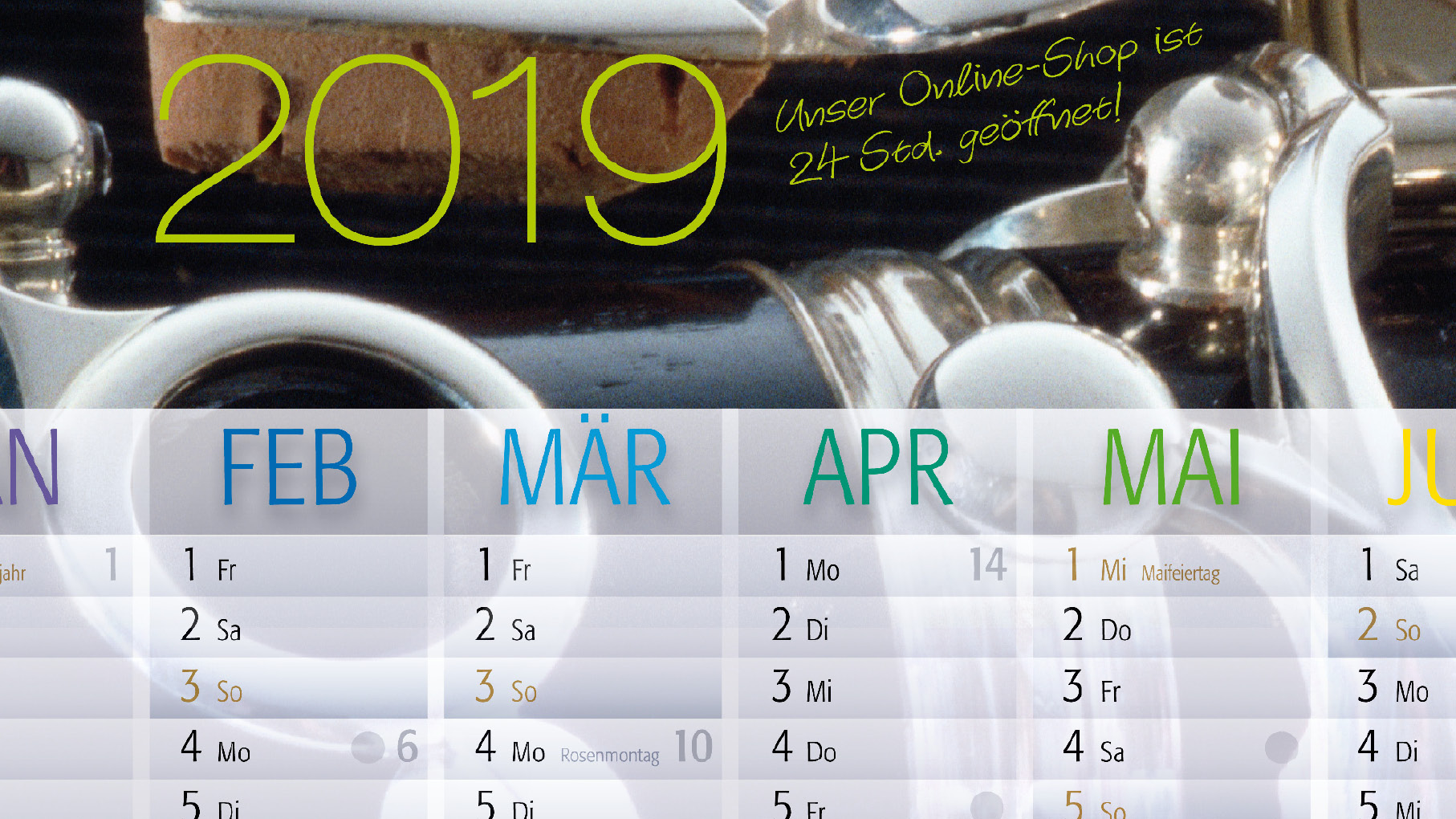 Zehm Design Kalender 2019
