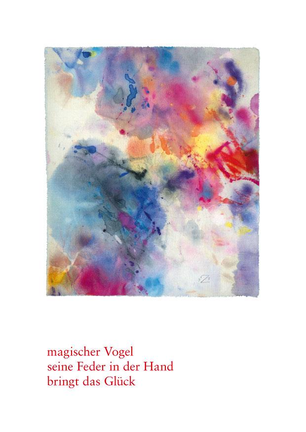 "Haiku Postkarte ""feuervogel"""