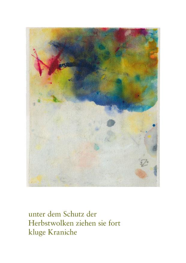 "Haiku Postkarte ""herbstwolken"""