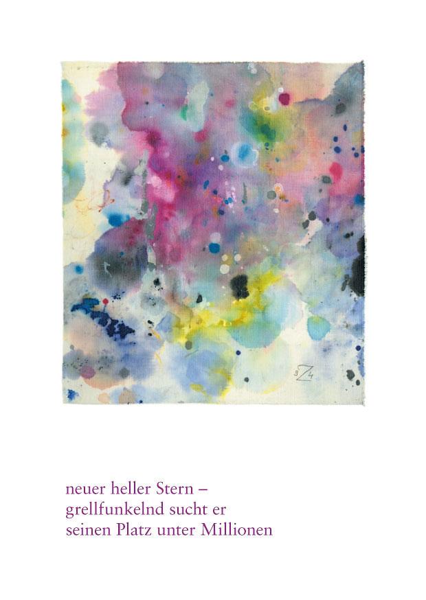 """Haiku Postkarte """"supernova"""""""