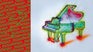 Musik+Design – Freie Grafik, Airbrush, 1984