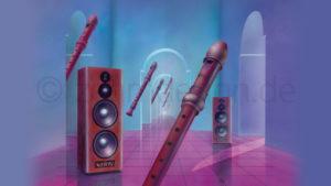 The Flute Master – Schallplattencover-Motiv, Airbrush 1988