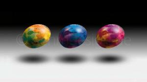 Flying Eggs – Freie Studie und Osterkarte