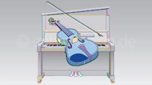 Schott Music – Titelgrafik für eine Violinschule
